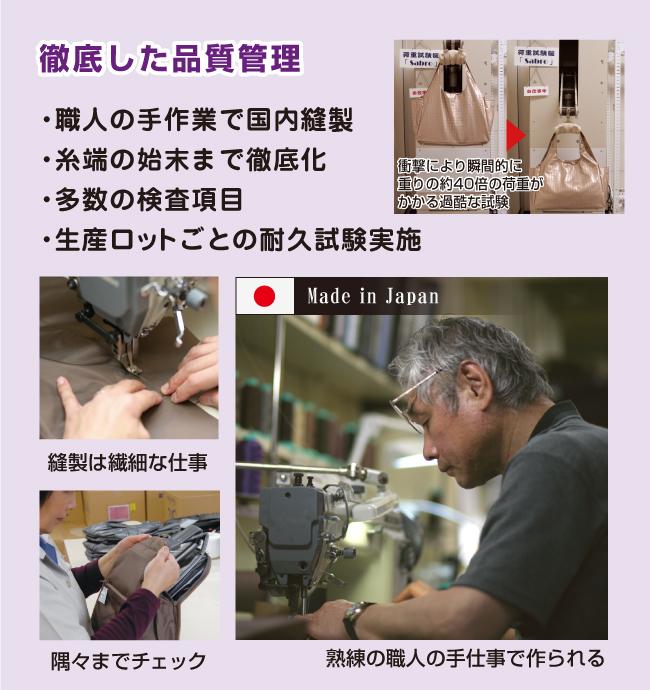 厳選素材で軽さを追求。持った腕がひょいっと上がる驚きの軽さ!!ヤマト屋のバッグは表地にポリカーボネイト加工を施しているため、ベタベタボロボロにしないで、長くお使いいただけます。雨(水分)に強い。光(紫外線)に強い→変色しない。暑さ寒さに強い(-20度~100度)ポリカーボネイトです。端の始末まで徹底化(ほころび防止)。多数の検査項目(ポシェット:約40項目)。生産ロットごとの耐久試験実施など徹底した品質管理を行っています。