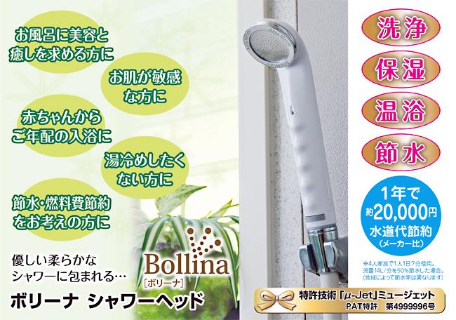 ボリーナ シャワーヘッド 美容温浴・洗浄・温浴・節水・光熱費も節約に 水圧 おススメ 交換 マイクロバブル